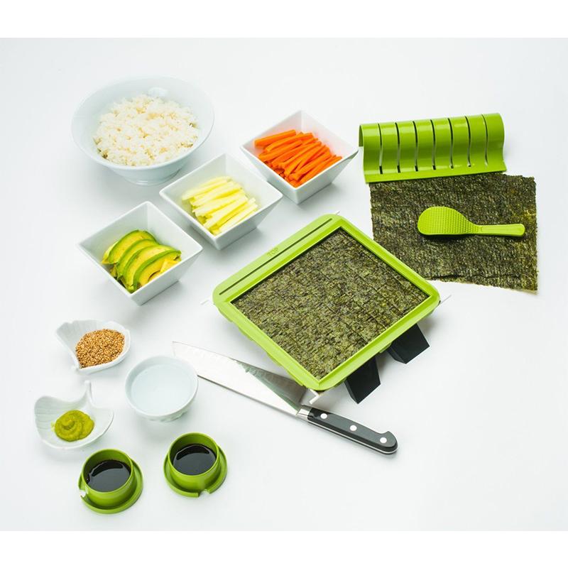 Sushiquik Kit de elaboración de sushi divertido cortador de rodillo ...