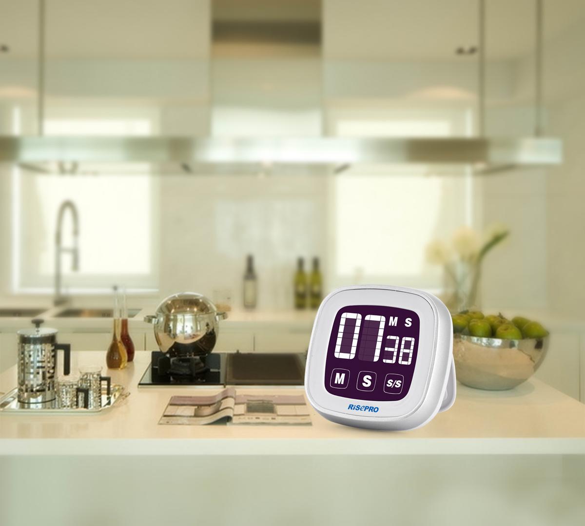 Orologio con sveglia timer alla rovescia lcd digitale - Timer da cucina ...