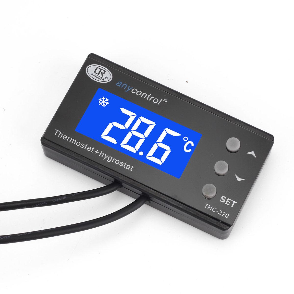 de Temperature controller Thermometer thermostat Reptile Incubator  #093DC2