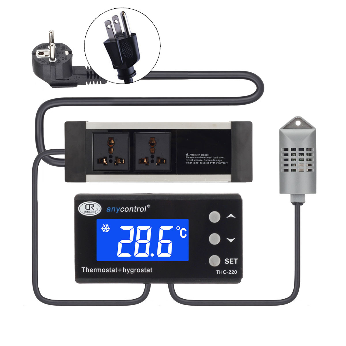 controller Thermometer thermostat Reptile Incubator Heating Cooling #083DC3