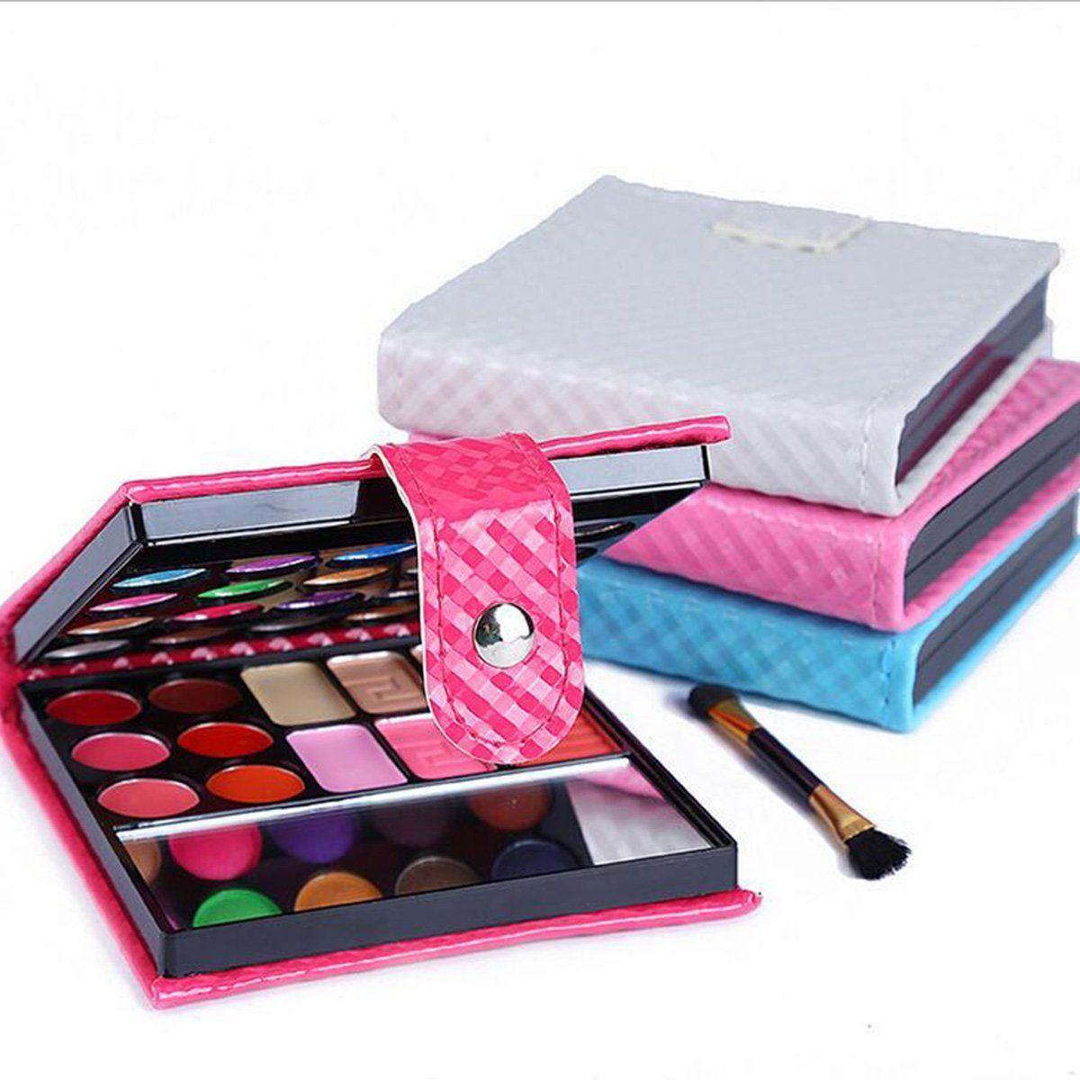 new 3 colors eyeshadow eye shadow palette makeup kit set make up box with mirror ebay. Black Bedroom Furniture Sets. Home Design Ideas