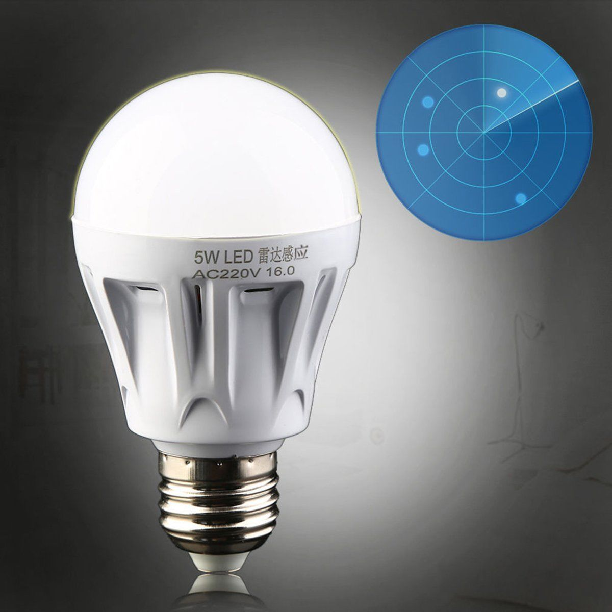 5w e27 led pir motion sensor detection lamp warm white bulb outdoor night light ebay. Black Bedroom Furniture Sets. Home Design Ideas