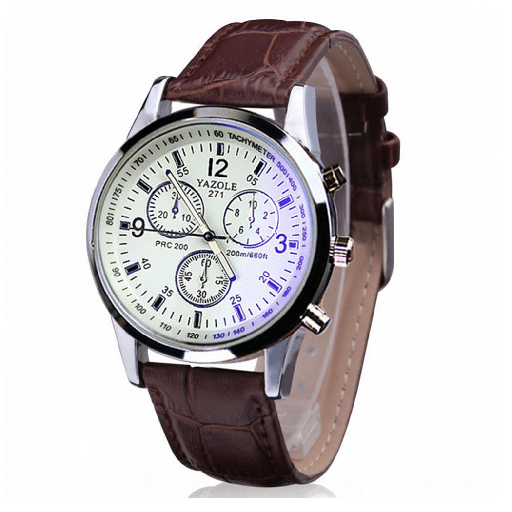 Luxury-Men-039-s-Date-Stainless-Steel-Quartz-Leather-Strap-Band-Wrist-Watch-Watches