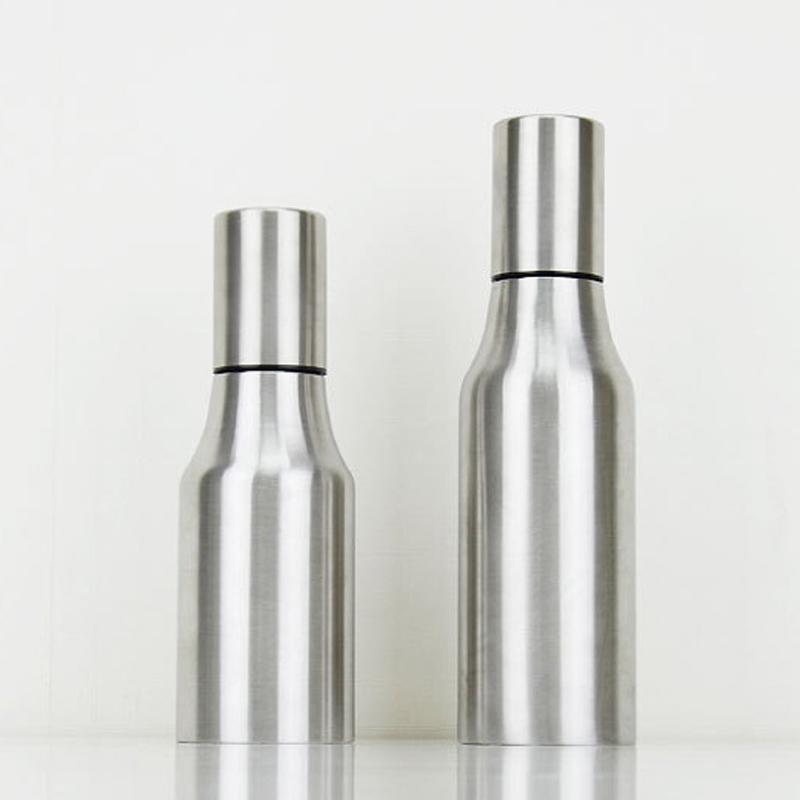 stainless steel kitchen oil olive dispenser pot cooking storage bottle 500 750ml. Black Bedroom Furniture Sets. Home Design Ideas