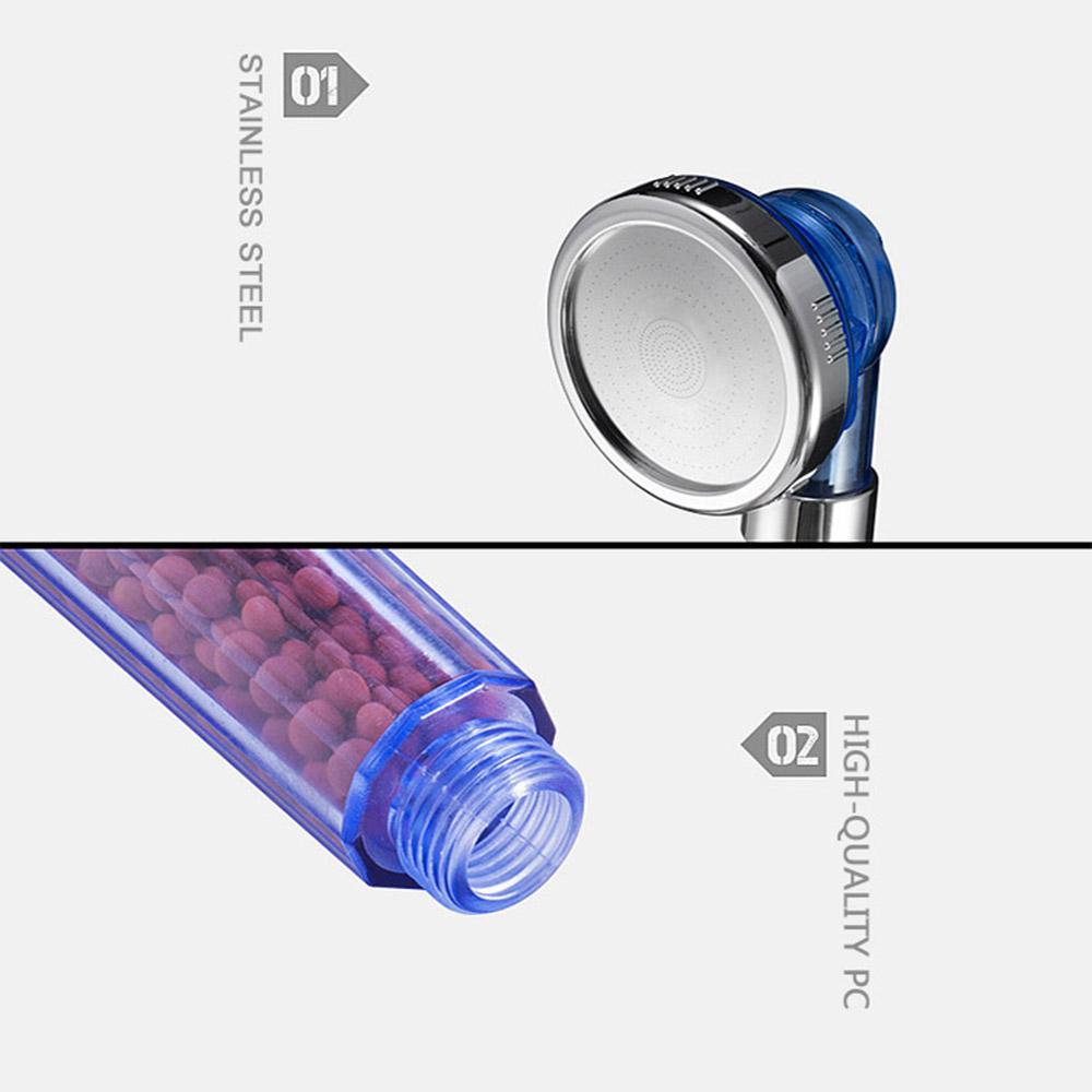 3 modes filtered handheld shower head high pressures for damaged dry skin hair ebay. Black Bedroom Furniture Sets. Home Design Ideas