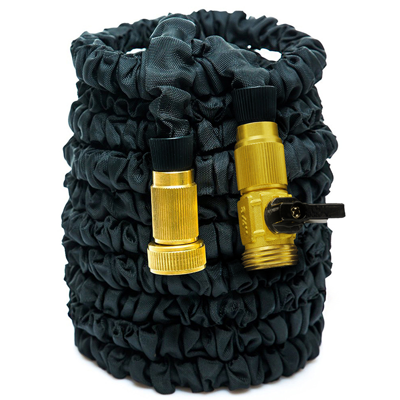 3x expandable automatic flexible garden water hose pipe brass fittings 100 50ft Expandable garden hose 100 ft